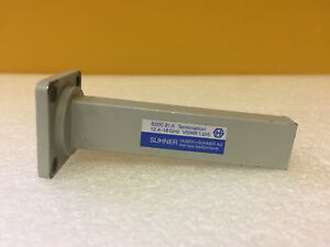 Huber Suhner 6200 81 a wr 62 12 4 To 18 Ghz Waveguide Termination Tested