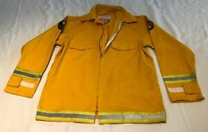 Firefighter Wildland brush Fire Jacket W reflector Size Large