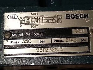 Bosch Proportional Valve Body 9811232103 New Never Used