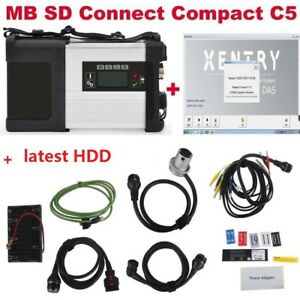 Dhl V2019 12 Mb Sd C5 Sd Connect Compact 5 Star Diagnosis For Cars And Trucks
