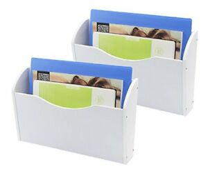 Pag 2 Pockets Office Supplies Organizer Wood Hanging Document File Holder Wall