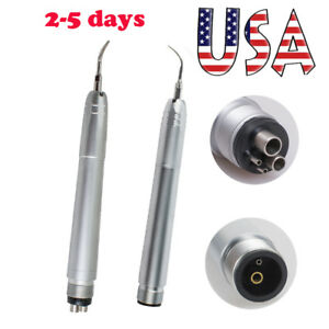 Us Dental Hygienist Sonic Piezo Ultrasonic Air Scaler Handpiece 2 4 Holes 3 Tips