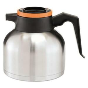 Bunn Thermorn 1 9 Liter Thermal Carafe Stainless Steel Black And Orange
