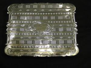 Antique Victorian Silver Card Case Birmingham David Pettifer Circa 1856