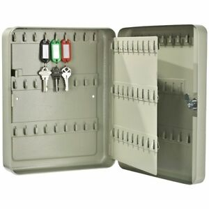 105 Key Storage Safe Lock Box Wall Mount Cabinet Organizer Home Office Security
