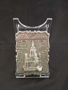 Antique Victorian Silver Castle Top Card Case Birmingham Bent