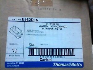 Carlon E982dfn 1 2 Inch Non metallic One Gang Fs Box 18 Cuin Type Fss