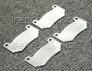 Titanium Brake Pad Shim Heat Shield Set Holden Hsv Z Series 4p Ap Racing Rear