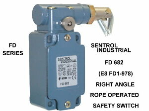 Right Angle Rope Operated Safety Switch Sentrol Industrial Fd 682 New In Box
