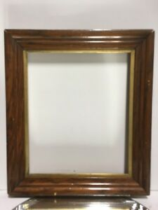 Vtg Aesthetic Eastlake Incised Lemon Gold Gilt Picture Frame Fits 10x12