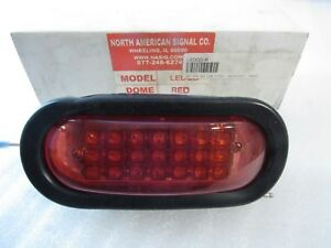 New Genuine North American Signal Ledqo r Led Red Lamp Light Quad Flash 12 24v