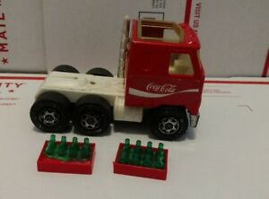 Vintage Buddy L Coca Cola Truck Cab 12 Pack Empty Bottles Crates