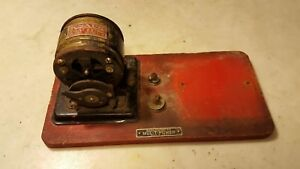 Antique Knapp Giant Extra Toy Electric Motor W On Off Switch Fan