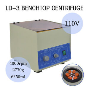 4000rpm 6 50ml Electric Benchtop Centrifuge Lab Medical Ld 3 Centrifugal Machine