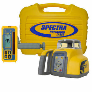 Spectra Precision Hv302 Red Beam Self Leveling 1 16 Hl450 Receiver Rc402n