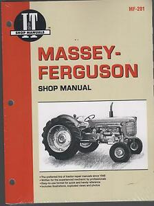 Massey ferguson I t Gas Diesel Mf65 85 88 90 Tractor Shop Manual Mf 201 New