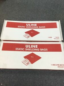 Uline Static Shielding Bags 10x30 S 3740 1 Box New 1 Box Used