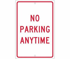 National Marker Tm2h No Parking Anytime Sign