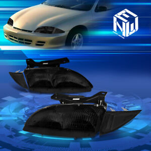 For 95 99 Chevy Cavalier Smoked clear Side Headlights corner Lamps Replacement