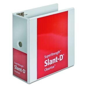Cardinal Superstrength Clearvue Locking Slant d Ring Binder 5 inch Whit New