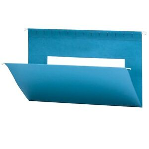 Smead Hanging File Folders With Interior Pocket Legal Size Sky Blue 25 New