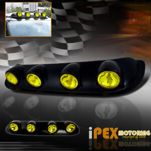 Truck Jeep Suv Off Road Roof Top Yellow Fog Lights Lamps With On Off Switch Kit