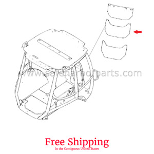 352209a1 Case 580m 580n Backhoe Rear Center Glass