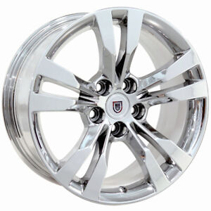 18x9 5 18x8 5 Wheels Fit Cadillac Cts Style Chrome Rims 4717 Staggered Set Cp