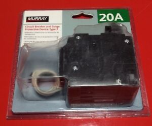 New Murray Whole House Surge Protector Msa2020spd With Two 1 Pole 20 Amp Breaker