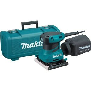 Makita14 Sheet Finishing Sander with Tool Case grip design Corded Teal With Bag