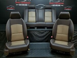 2008 Chevy Malibu Front Rear Leather Bucket Seats Cashmere Trim Code 342
