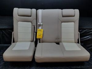 2003 Ford Expedition 3rd Third Row Leather Rear Back Seat Tan Trim Code 1h