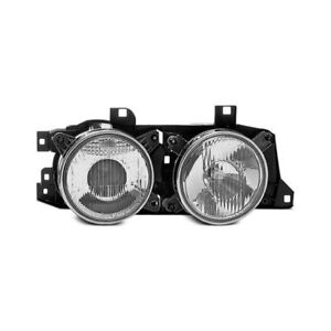 For Bmw 525i 89 95 Hella H11626001 Passenger Side Outer Replacement Headlight