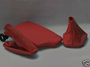 Fits Bmw E36 E46 Red Armrest Cover Boots Set Real Leather