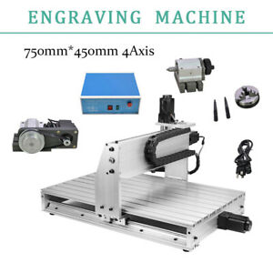 4 Axis 800w Desktop Cnc Engraving Machine Router Engraver Milling Driling 6040z