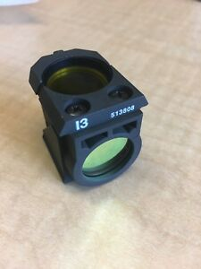 Leica I3 Filter Cube 513808 For Gfp Yfp Fluorescence On Dm Microscopes