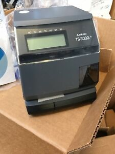 Amano Ts 3000i Automatic Time Sync Web Clock Oats Compliant Nib New In Box