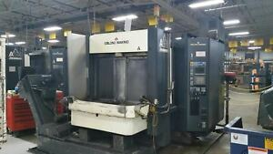 1997 Makino A55 Cnc Horizontal Machining Center With Fanuc Control Under Power