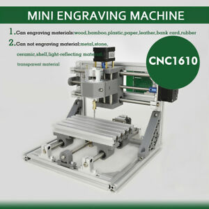 1610 3 Axis Mini Engraving Machine Engraver Cnc Router Pcb Wood Plastic Pcb Pvc