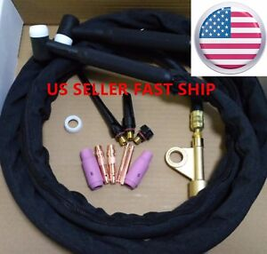 Us Seller Wp 17f 25ft 150a Air cooled Tig Welding Torch Flex Head Weldcraft