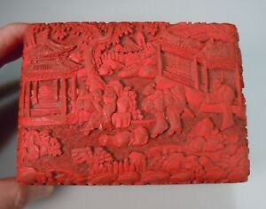 Chinese Red Cinnabar Lacquer Box 51174