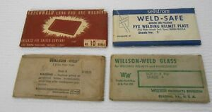 Vintage Welder Lens Lot 5 Plate Shades 4 6 9 10 Sellstrom Willson Cescoweld