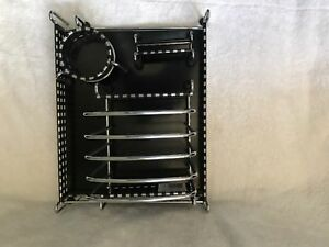 Eldon Black Metal Desk Organizer Set 5 Pieces Used Great Condition