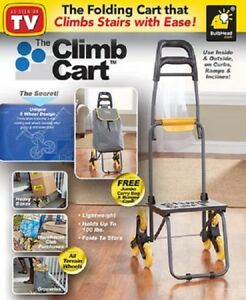 Climb Cart Wheels As Seen On Tv Grocery Laundry Luggage Stairs Free Shipping