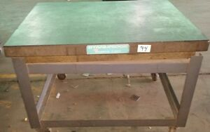 Standridge Granite Table Plate 4ft X 35 3 4in X 6 1 4in on Stand 33 3 4in Tall
