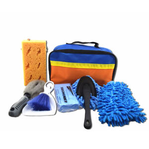 Car Cleaning Kits Cleaner Washing Tools Interior Exterior Sponge Brush Towel Bag