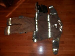 Retired Baltimore City 1998 Janesville Firefighter Turnout Coat Pants Boots