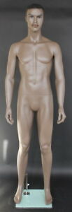 6 Ft 2 In Tall African American Male Mannequin Sfm13bt New