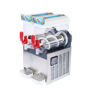 U s Solid Slush Machine 2 Tanks 30l Frozen Margarita Drink Machine Us Shipping