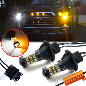 Led Swtichback Turn Signal Drl Light Bulbs For Ford F 150 F 250 F350 Super Duty